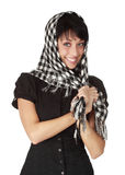 Cute woman with scarf Stock Image