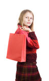 Cute woman with shopping bag Stock Photo