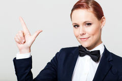 Cute woman in suit Royalty Free Stock Photo