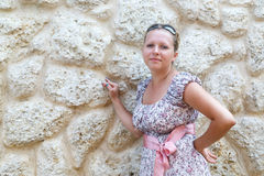 Cute woman in sundress Stock Photos
