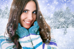 Cute woman in sweater Royalty Free Stock Images