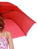 Cute woman with umbrella Royalty Free Stock Image
