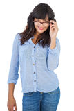 Cute woman wearing glasses Stock Photo