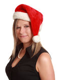 Cute woman wearing santa hat Stock Photography