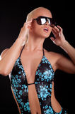 Cute woman wearing swimsuit Royalty Free Stock Photos