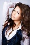 Cute Woman With Beautiful Long Hair Stock Photos