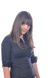 Cute women in black shirt Stock Image