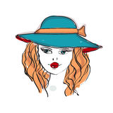 Cute women in hat Royalty Free Stock Photography