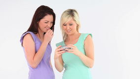 Cute women taking a picture of themselves Royalty Free Stock Images