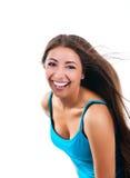 Cute women on white background Stock Photos