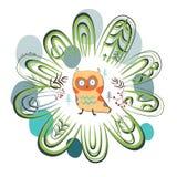 Cute wood owl Stock Photo