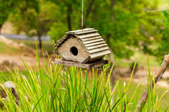 Cute wooden birdhouse Royalty Free Stock Photo