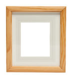 Cute Wooden picture frame (with clipping path) Stock Images