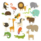 Cute Woodland and Jungle Animals Vector Set Royalty Free Stock Photos