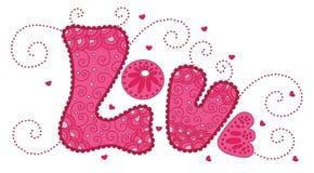 Cute word love Stock Image