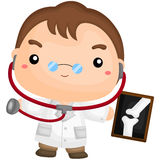Cute Working Doctor Royalty Free Stock Photo