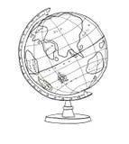 Cute World-Globe line art  good  illustration Royalty Free Stock Image