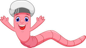 Cute worm cartoon Royalty Free Stock Photography