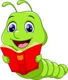 Cute worm cartoon Stock Images
