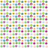 Cute wrapping paper for gifts. On white background Stock Images