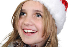 Cute xmas girl Stock Photography