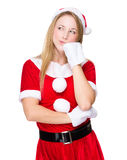 Cute xmas lady Royalty Free Stock Image