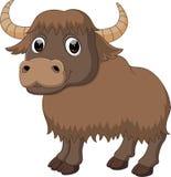 Cute yak cartoon. Illustration of cute yak cartoon Royalty Free Stock Image