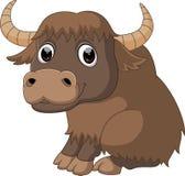 Cute yak cartoon. Illustration of cute yak cartoon Stock Photography