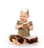 Cute 1-year-old baby girl Royalty Free Stock Photo
