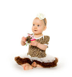Cute 1-year-old baby girl Stock Photo