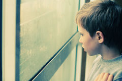Cute 6 years old boy Stock Photography