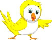 Cute yellow bird cartoon Stock Photo