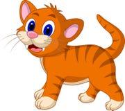Cute yellow cat cartoon Stock Image