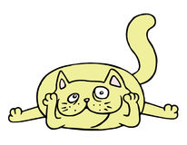 Cute yellow cat in love. Vector illustration. Royalty Free Stock Photos