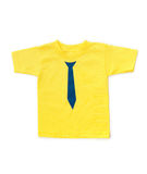 Cute yellow childrens t-shirt Stock Image