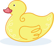 Cute yellow duck vector illustration Royalty Free Stock Photos