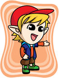 Cute yellow elf boy Royalty Free Stock Photos