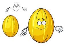 Cute yellow melon fruit cartoon character Royalty Free Stock Photos