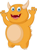 Cute Yellow monster cartoon Stock Photography