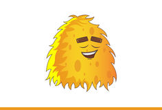 Cute yellow Monster Relaxed. Stock Photography