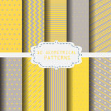 Cute yellow pattern. 10 different yellow and gray patterns. Endless texture can be used for wallpaper, pattern fills, web page background,surface textures royalty free illustration