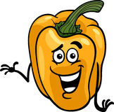 Cute yellow pepper cartoon illustration Stock Photos