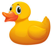 A cute yellow rubber duck Royalty Free Stock Images