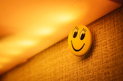 Cute yellow smile face Royalty Free Stock Photos