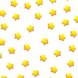 Cute yellow stars pattern with isolated white background Royalty Free Stock Image