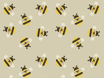 Cute yellow vector bee background Stock Photography