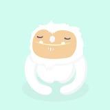 Cute yeti. Cute yeti on pastel background Stock Image