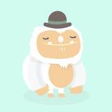Cute yeti. Stock Image