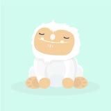 Cute yeti. Cute yeti on pastel background Royalty Free Stock Image