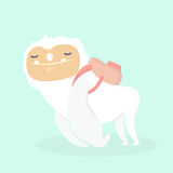 Cute yeti. Royalty Free Stock Images